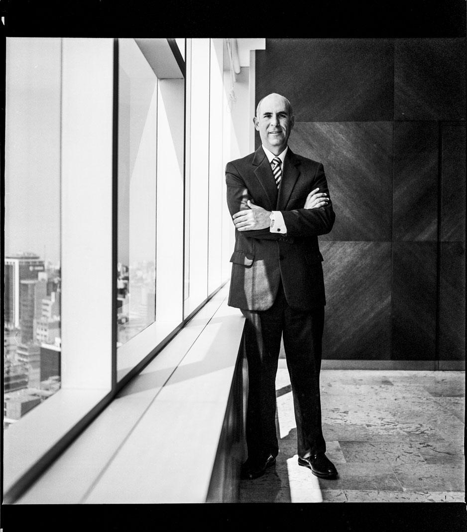 Eduardo Torres Llosa, General Manager of the BVA group. Photograph taken in medium format film.