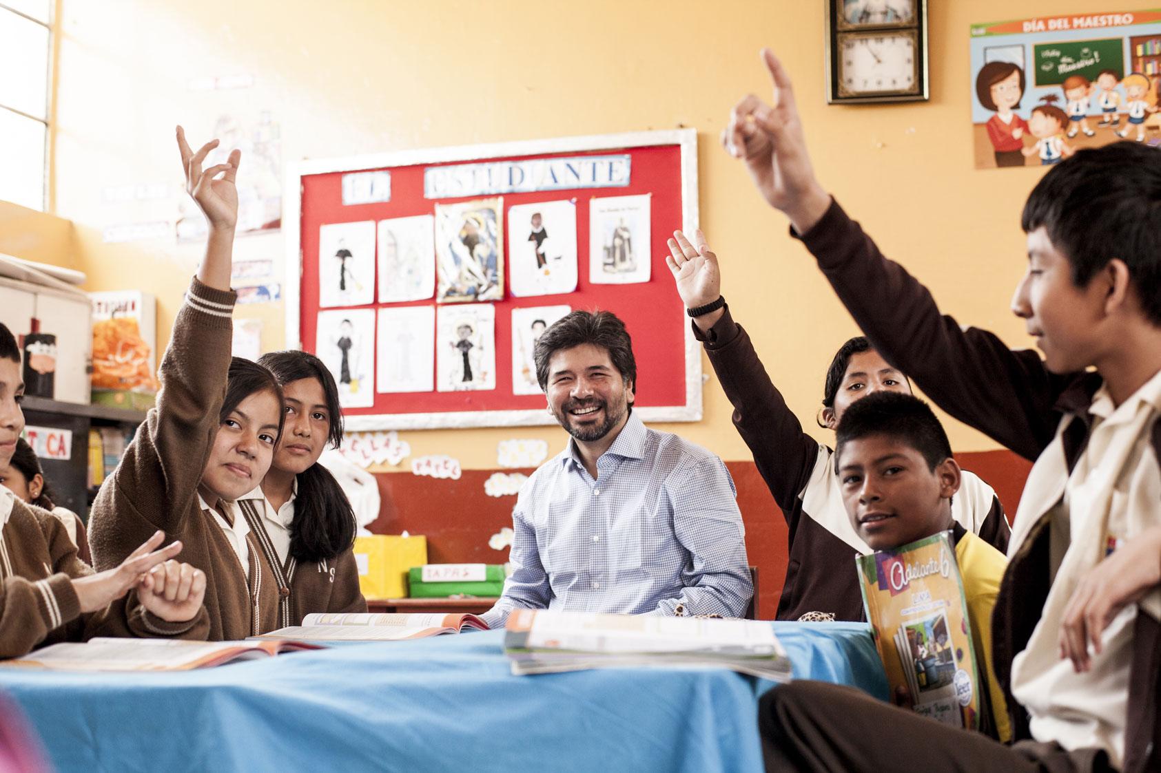 BBVA Foundation´s rural education program.